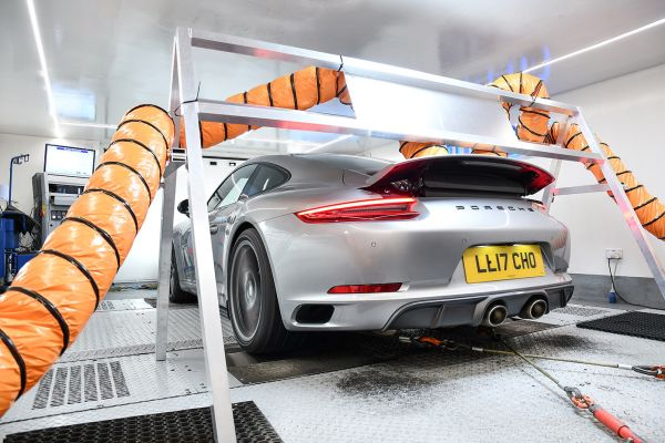 Porsche 991.2 cooling on dyno