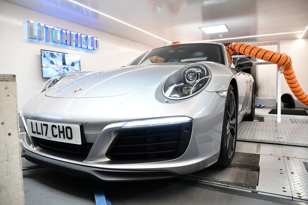 Porsche Carrera 991.2 tuning on dyno