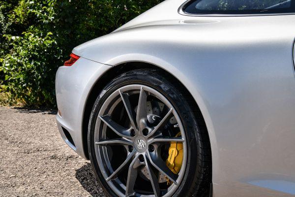 Porsche rear quarter in sunlight