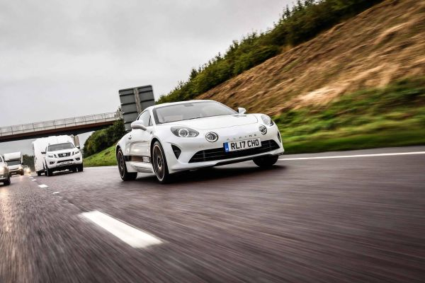 Alpine A110 making progress through the UK