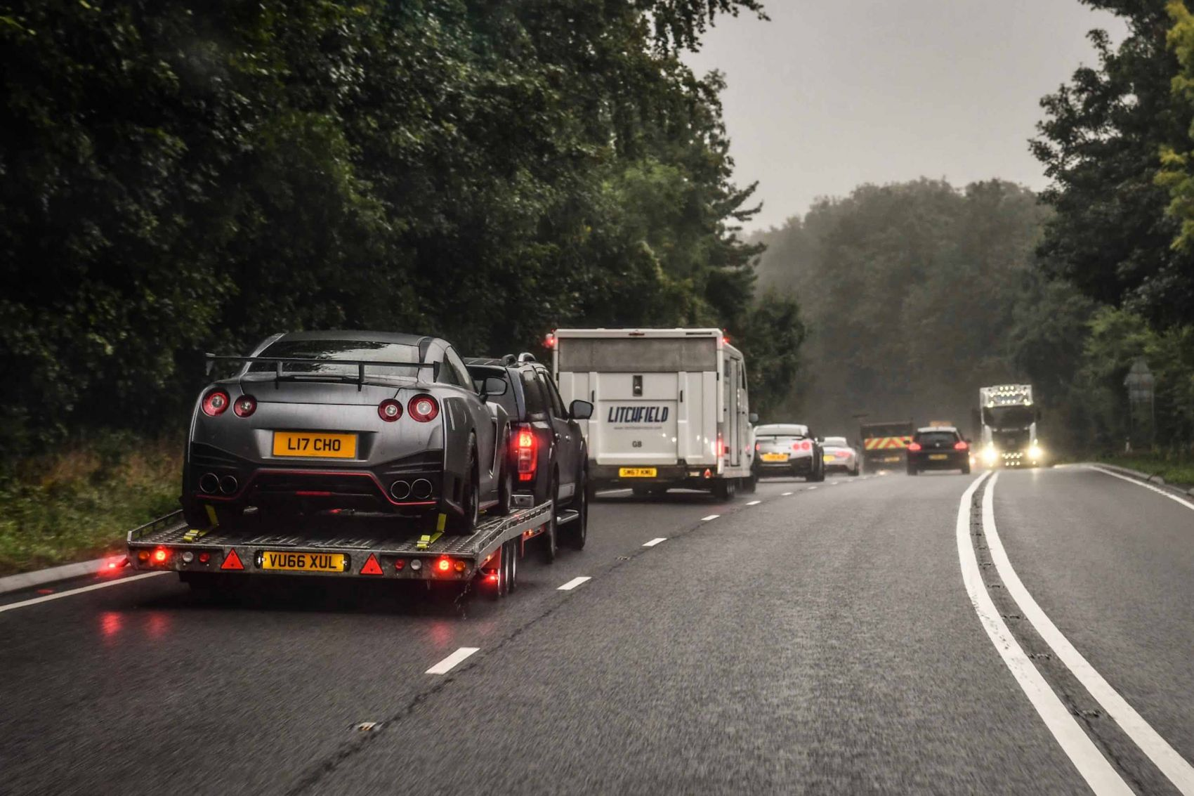 Convoy leaving Gloucestershire