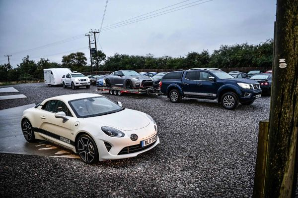 Alpine A110 ready to leave