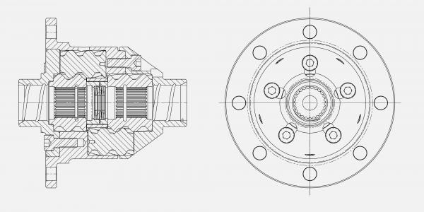Quaife front differential design