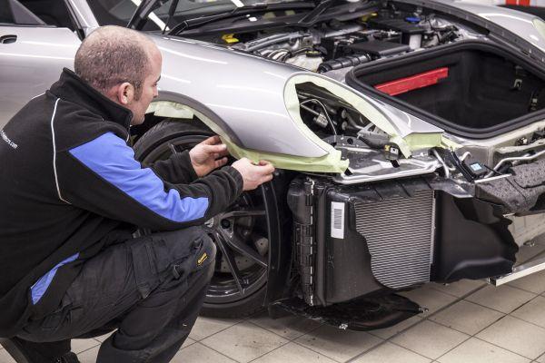 Carrera T development car being prepared